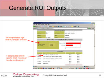 Generate ROI Outputs